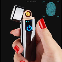 SLIM MODE Styles Korek Api Elektrik Fingerprint Sensor LED recharger