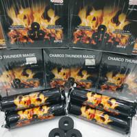 grosir arang magic charcoal thunder 1box isi 8 bungkus
