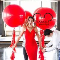 Balon Latex Jumbo 18 inch / Balon Latex Doff Jumbo Merah / Balon Giant