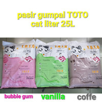 Pasir Gumpal Wangi 25L Bentonite Toto Cat Litter- Kucing - Hewan - Vanilla