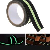 Lakban Lantai anti slip Tangga Glow Tape Stiker fosfor 5cm x 5 mtr
