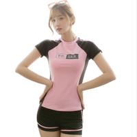 YO SKR Baju renang wanita kaos plus celana import model korea T40