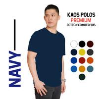 kaos polos cotton combed 30s Premium warna Navy