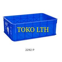 CONTAINER BOX INDUSTRI SERBAGUNA 2292 P GREEN LEAF / KOTAK BAK WADAH