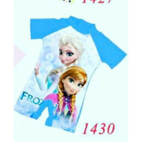 [ DISCOUNT SALE ] Baju Renang Anak Frozen + Topi Renang He You J2