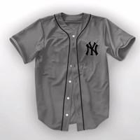 kemeja wanita baseball baju jersey - kaos baseball kemeja jersey