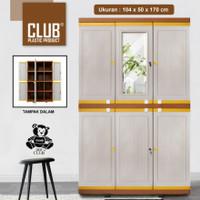 lemari plastik club pintu 3(MEGA GRAND LC-M01