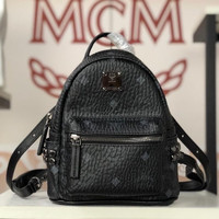 Mcm Bebe Boo Backpack size : 20*16*10 Black Only 6 studed only!
