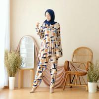 baju setelan wanita muslim celana set rayon viscouse busui friendly