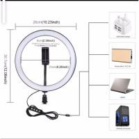 Ringlight Diameter 26cm Plus Holder HP Ring Light