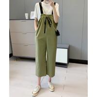Baju Jumpsuit Playsuit Wanita / Baju Kodok Import Army Serut Tali