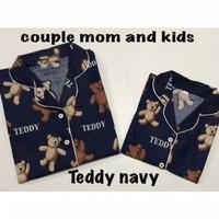 Piyama Couple Tedy Navy | Mom And Kids | Bayi - Anak - Remaja - Dewasa