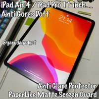 Anti Gores iPad Air 4 / iPad Pro 11 2018 2020 PaperLike Matte Doff New