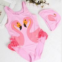 Baju Renang Anak Swimsuit Flamingo Pink Bayi Perempuan TR39