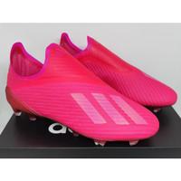 Sepatu Bola - Soccer Adidas X 19+ Laceless Shock Pink - FG