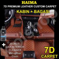 Karpet HAIMA 7D Mobil INNOVA REBORN 7 seat KOIL Super LUX 3brs bagasi