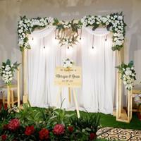 sewa dekorasi backdrop pernikahan / lamaran nuansa putih 2.2. meter