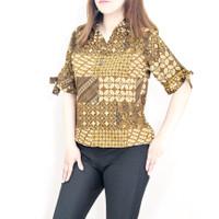 259BC- Baju batik wanita lengan pendek crop top model terbaru