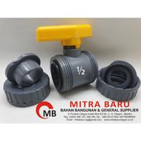 STOP KRAN WATER MUR ONDA PVCBV WM 1-2 inch PVC Ball Valve Watermoor