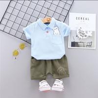 baju kemeja POLO import anak bayi laki 6 7 8 9 10 11 12 bulan biru