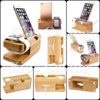 Docking Stand Holder Dock Kayu Penyangga Dudukan Handphone Smartwatch - Harga 1 Buah