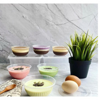 THINWALL 250 ML + TUTUP @ 25pc / CUP PUDING CUP SALAD BUAH