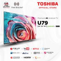 Toshiba 50 inch 4K LED Android Smart TV UHD [Free Bracket] 50U7950