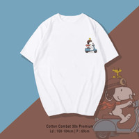 Snoopy T-shirt - Kaos Santai Wanita / Pria Unisex fit To XL Oversize