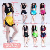 SCARLET SET / setelan rok olahraga / baju senam murah / baju dance