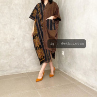 tunik tenun mix lurik baju batik wanita modern
