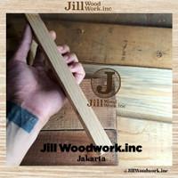 Stik Kayu Jati Belanda Persegi Balok Stick Kecil 30cm Pinus Pine Wood