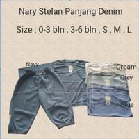 Nary Stelan Panjang Denim / Baju Stelan Anak / Baju Bayi / Baju Anak