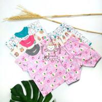 Setelan Bayi Perempuan Baju Lengan Suai + Celana Pendek 3/4 Little Q