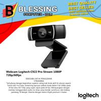 Webcam Logitech C922 Pro Stream 1080P HD 720p/60fps [960-001090]