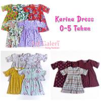 TERLARIS ! Karina Dress 0-5 Tahun - Baju Dress Anak Dan Bayi Perempuan