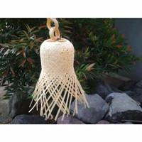 Kap Lampu Krongsong Kerajinan anyaman dari Bambu Plus Rantai