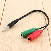 Kabel Audio Splitter 2 Female To 1 Male 3.5mm Aux