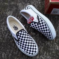 sepatu vans slip on checkerboard 36-43