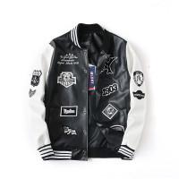 Varsity Jacket PU leather MLBNY unisex bomber jaket