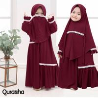 MK - Quraisha Kids / baju muslim anak perempuan usia 4-5 tahun