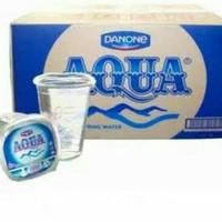 Aqua Gelas 240ml 240 ml 1 Dus isi 48 Cup - Grosir Murah Air Mineral