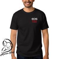 kaos baju t-shirt pria premium canon eos digital 01