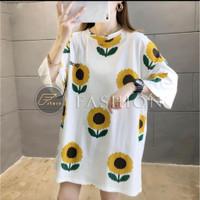 Baju melar atasan wanita Sunflo kaos oversize short sleeve fit XL