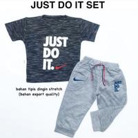 baju fashion setelan kaos celana joger just do it anak bayi laki laki