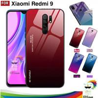 Case Redmi 9 - Xiaomi Hardcase Gradasi Gradient Aurora Glass Softcase