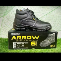Sepatu Safety Krisbow Arrow ori ukuran 6 inch