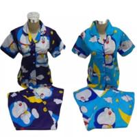 Baju Tidur Piyama CP Dewasa motif Doraemon Star