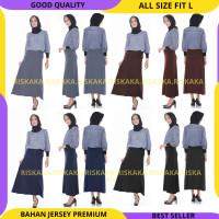 BAHAN ADEM - Rok Payung Maxi Fit To L Rok Panjang Muslimah Wanita