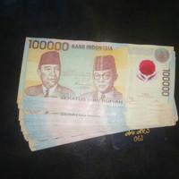 Uang Kuno 100 ribu polimer Sukarno hatta