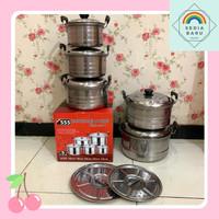 Panci steamer susun 5 pcs stainless steel 555